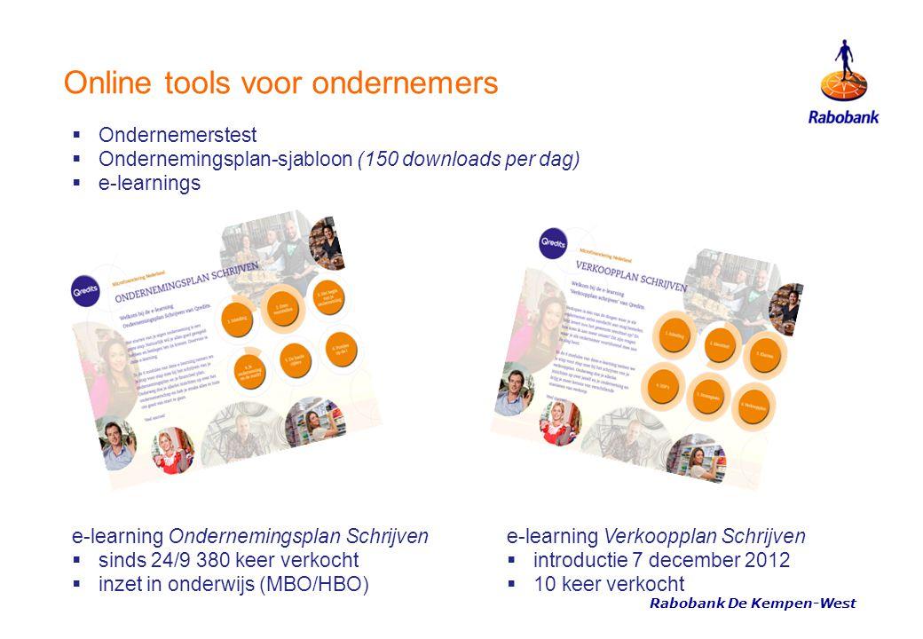 Online tools voor ondernemers e-learning Ondernemingsplan Schrijven  sinds 24/9 380 keer verkocht  inzet in onderwijs (MBO/HBO) e-learning Verkooppl