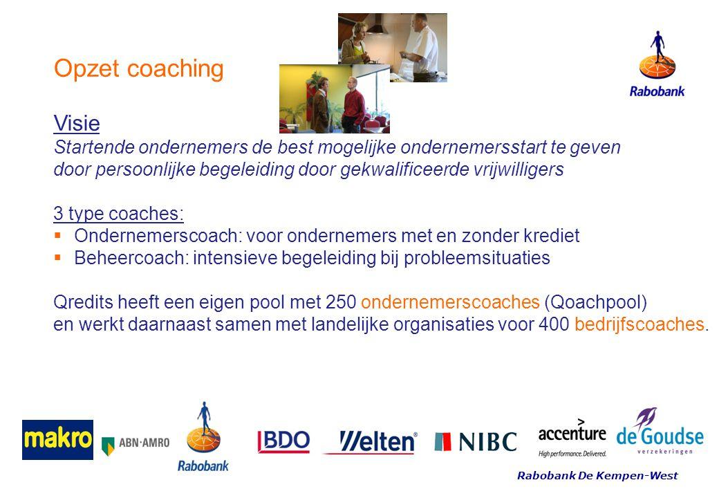 Opzet coaching Visie Startende ondernemers de best mogelijke ondernemersstart te geven door persoonlijke begeleiding door gekwalificeerde vrijwilliger