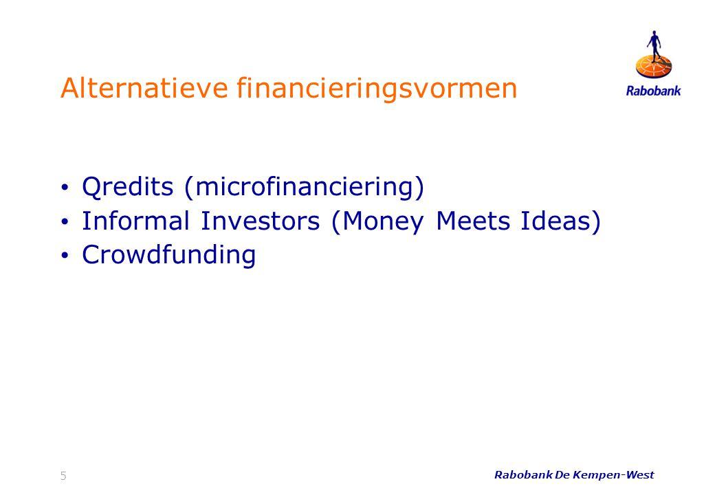 Rabobank De Kempen-West 16 Welke crowdfunding-varianten zijn er.