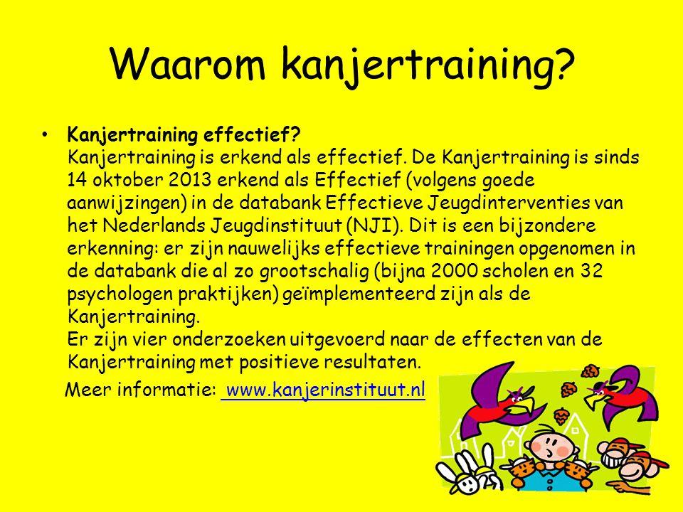 Waarom kanjertraining? • Kanjertraining effectief? Kanjertraining is erkend als effectief. De Kanjertraining is sinds 14 oktober 2013 erkend als Effec
