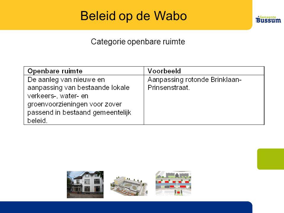 Categorie openbare ruimte Beleid op de Wabo
