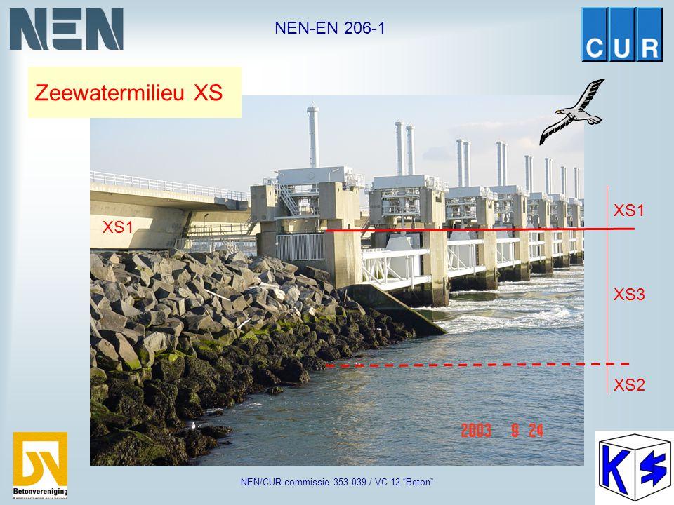 "NEN-EN 206-1 NEN/CUR-commissie 353 039 / VC 12 ""Beton"" schampkant: XC4, XD3, XF2 brugpeiler: XC4, XF1 poer: XC4, XD3, XF4 funderingspalen: XC2, XA2 br"