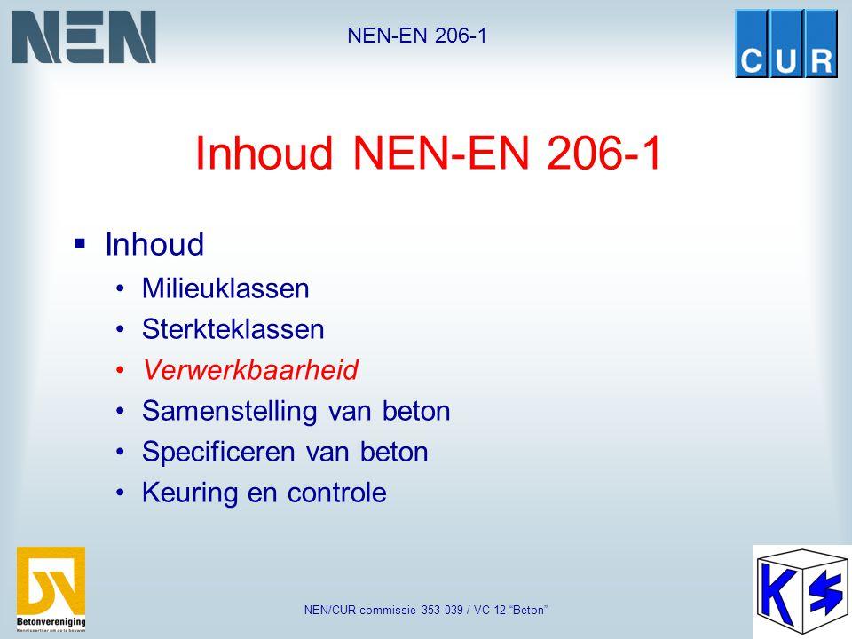 "NEN-EN 206-1 NEN/CUR-commissie 353 039 / VC 12 ""Beton"" Sterkteklassen Lichtbeton"