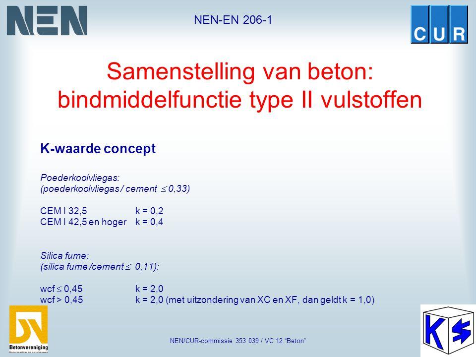 """NEN-EN 206-1 NEN/CUR-commissie 353 039 / VC 12 """"Beton"""" Samenstelling van beton  Bestanddelen in beton •CementNEN-EN 197-1 •ToeslagmateriaalNEN-EN 126"""