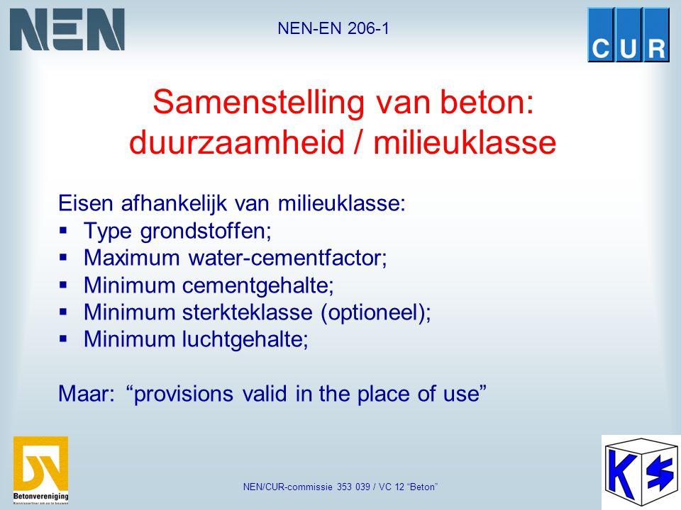 """NEN-EN 206-1 NEN/CUR-commissie 353 039 / VC 12 """"Beton"""" Equivalent concrete performance concept Geldt voor type I en type II vulstoffen Gelijkwaardighe"""
