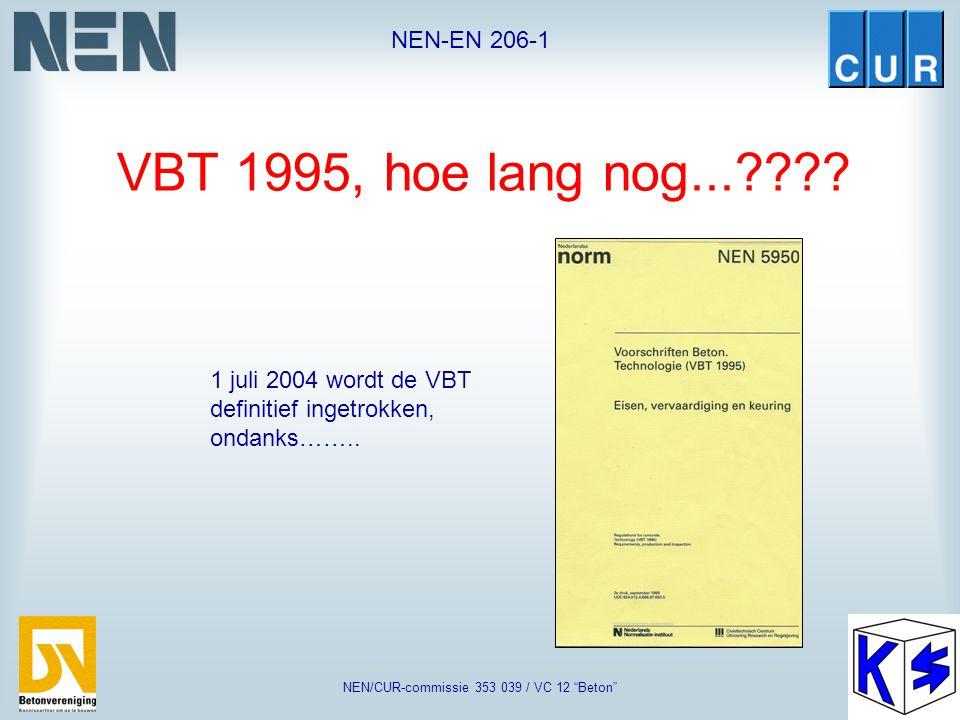 """NEN-EN 206-1 NEN/CUR-commissie 353 039 / VC 12 """"Beton"""" Eisen aan de betonsamenstelling afhankelijk van de milieuklasse volgens NEN 8005"""