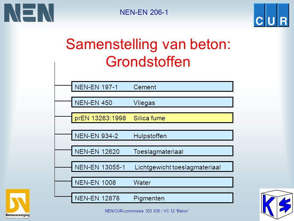 "NEN-EN 206-1 NEN/CUR-commissie 353 039 / VC 12 ""Beton"" ""Package"" van Europese normen"