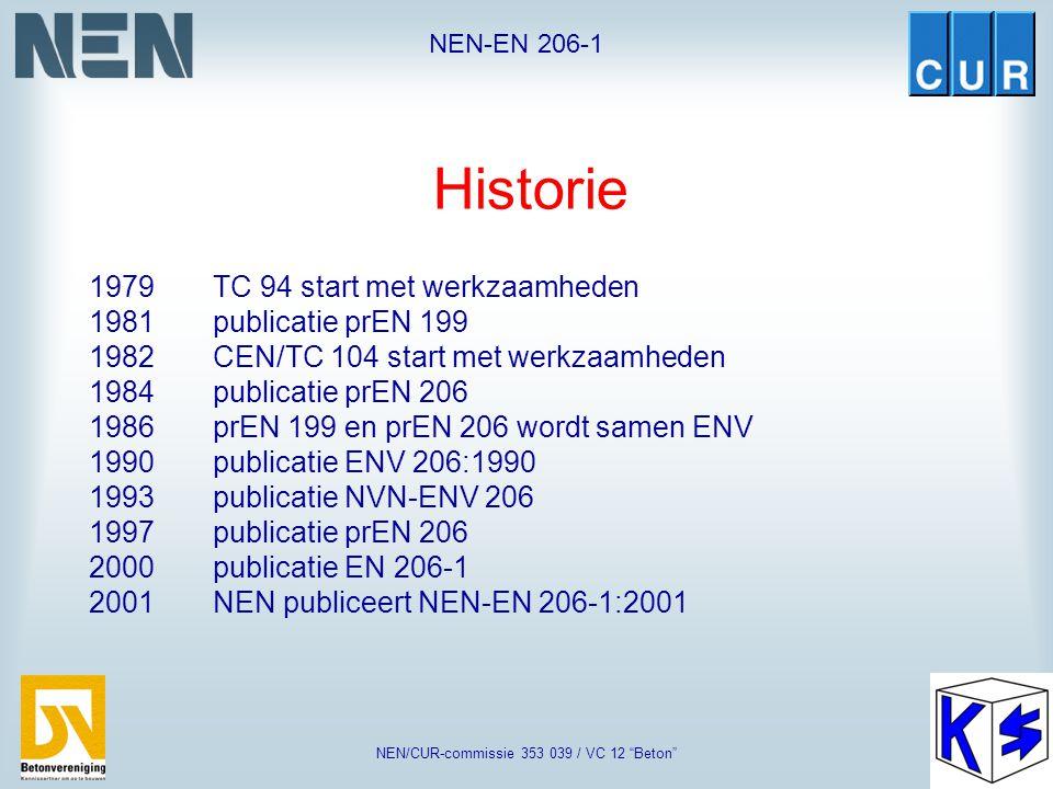 """NEN-EN 206-1 NEN/CUR-commissie 353 039 / VC 12 """"Beton"""" Norm ter ondersteuning van Eurocode 2 (Vergelijkbaar met onze VBC)"""