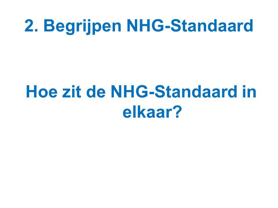 2. Begrijpen NHG-Standaard Hoe zit de NHG-Standaard in elkaar?
