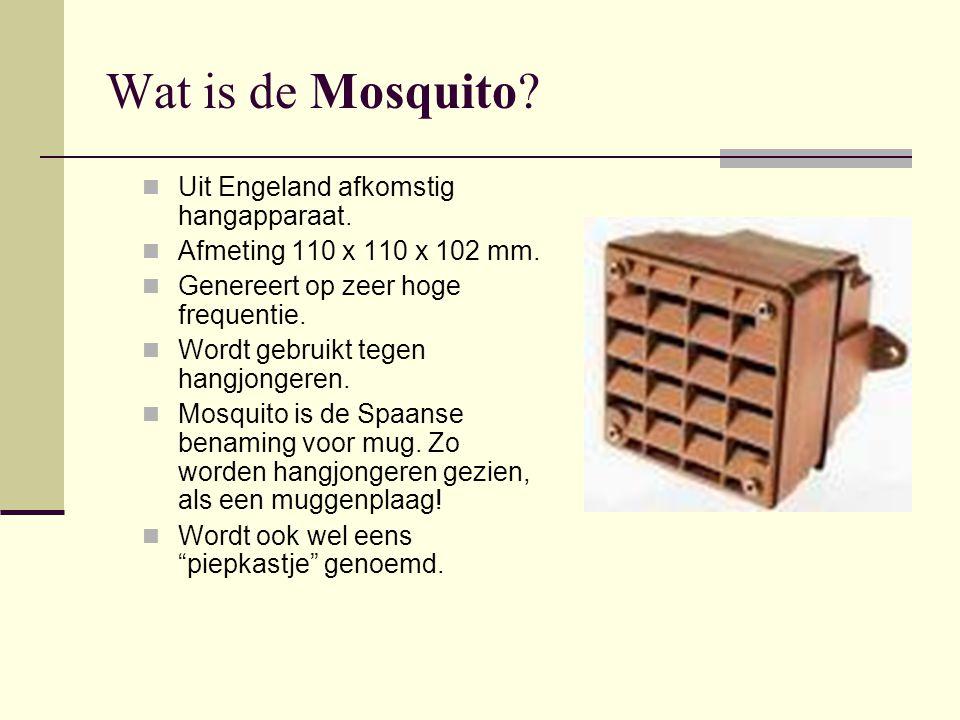 Waar komt de Mosquito vandaan. De Mosquito is afkomstig uit Engeland.