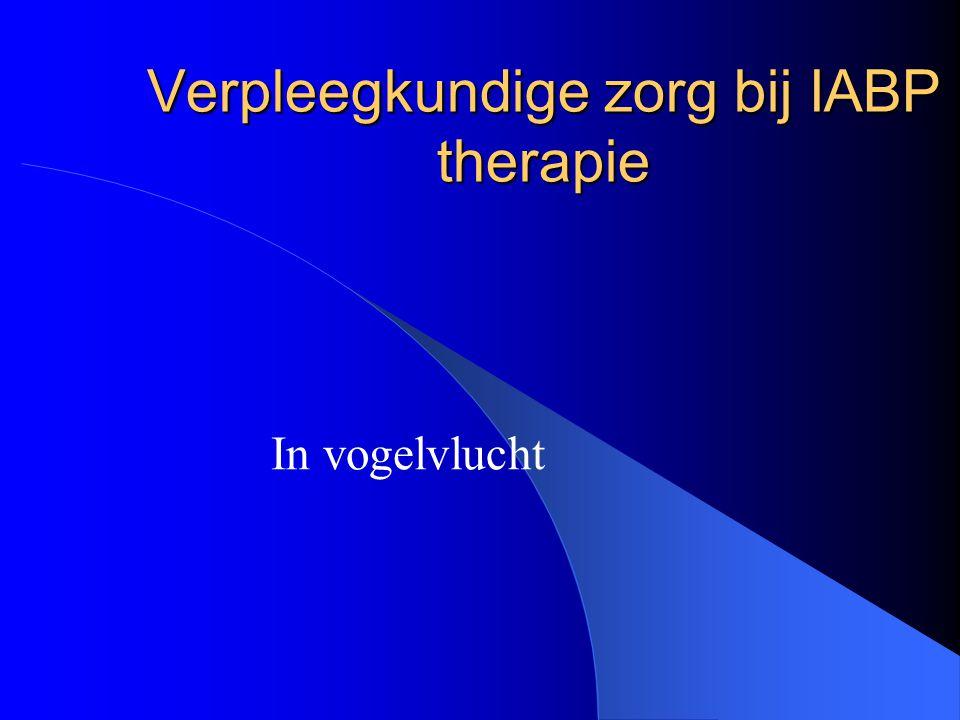 Verpleegkundige zorg bij IABP therapie In vogelvlucht