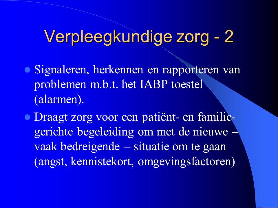 Verpleegkundige zorg - 2  Signaleren, herkennen en rapporteren van problemen m.b.t.
