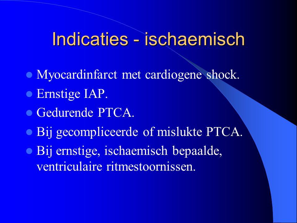 Indicaties - ischaemisch  Myocardinfarct met cardiogene shock.