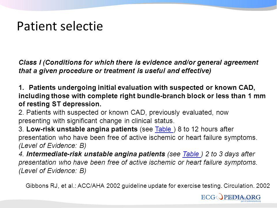 Pre Test Probability of Coronary Disease by Symptoms, Gender and Age Based on Diamond & Forrester, NEJM 1979;300:1350-8 Categorie 1: AP verdenking bij patienten met intermediair risico