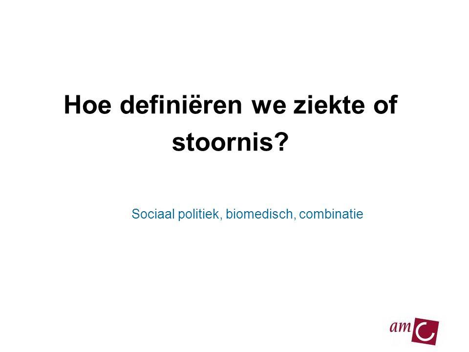 Hoe definiëren we ziekte of stoornis? Sociaal politiek, biomedisch, combinatie