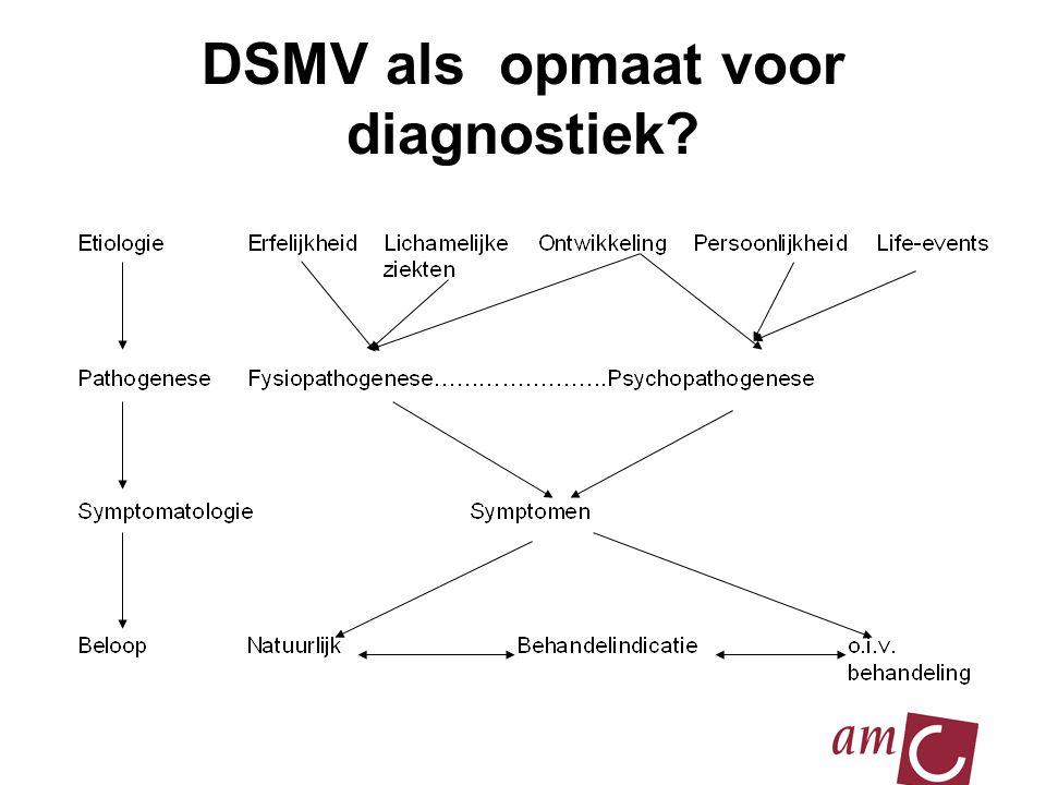 2010 DSMV als opmaat voor diagnostiek?