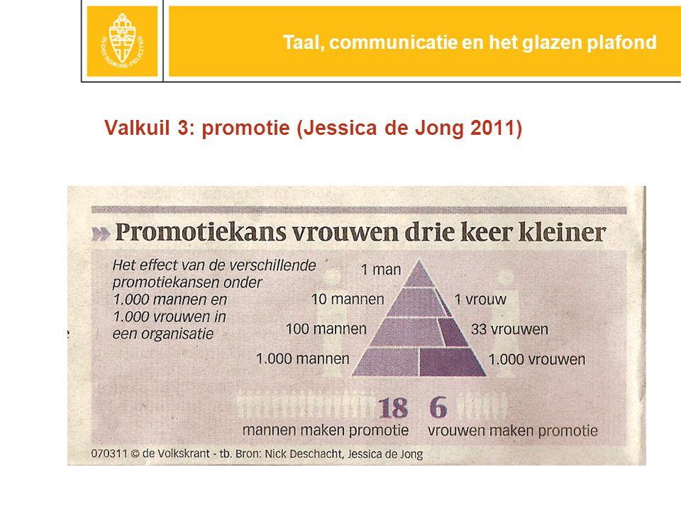 Valkuil 3: promotie (Jessica de Jong 2011) Taal, communicatie en het glazen plafond