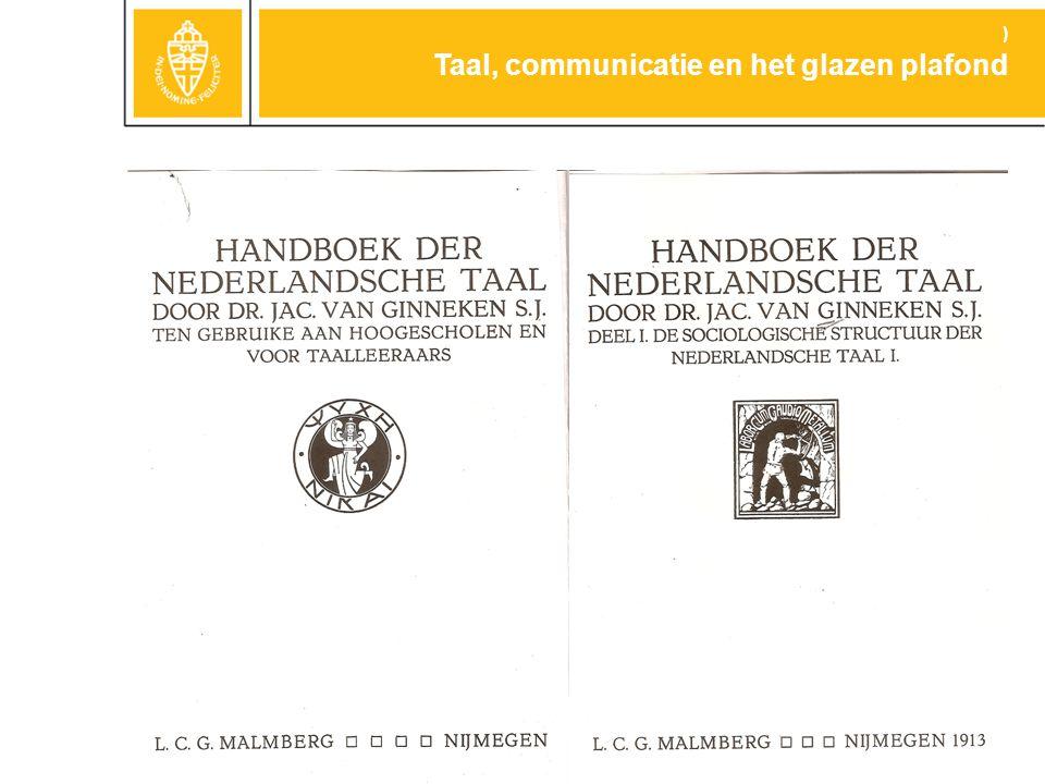 Inserteer hier de scan van het handboek Taal, communicatie en het glazen plafond )