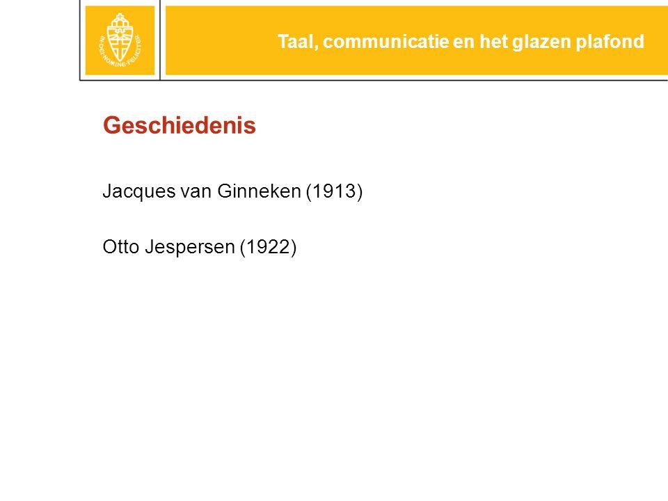 Otto Jespersen 1860-1943 Taal, communicatie en het glazen plafond