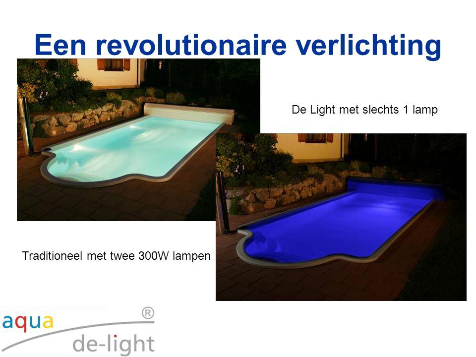 De Light met slechts 1 lamp Traditioneel met twee 300W lampen