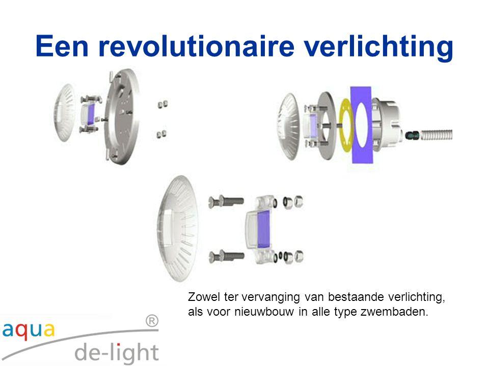 Een revolutionaire verlichting Zowel ter vervanging van bestaande verlichting, als voor nieuwbouw in alle type zwembaden.