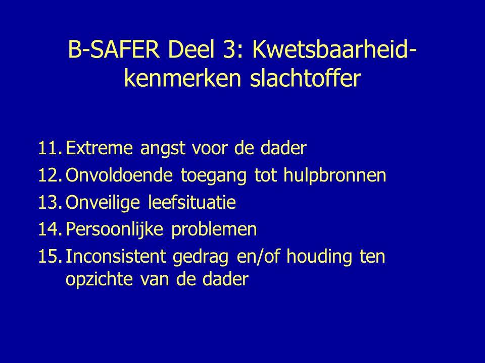 B-SAFER Procedure •Belangrijke, noodzakelijke informatiebronnen: –Informatie over de verdachte (processen- verbaal) –Justitiële documentatie (delictgegevens) –Informatie cq.