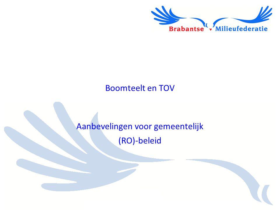 Aanbevelingen voor gemeentelijk (RO)-beleid Boomteelt en TOV