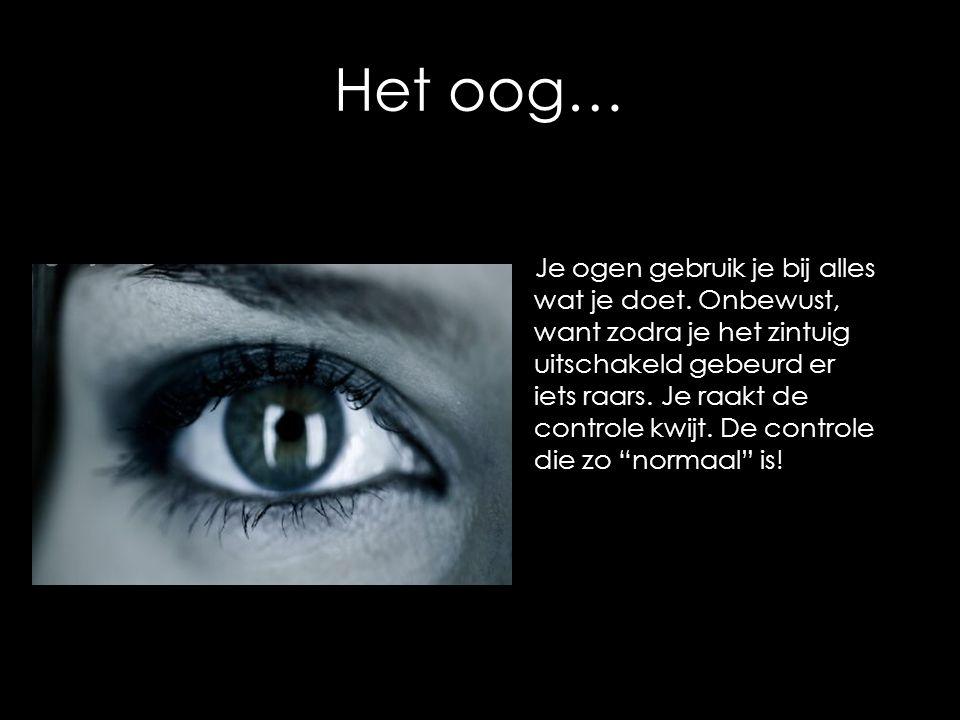 Het oog… Je ogen gebruik je bij alles wat je doet. Onbewust, want zodra je het zintuig uitschakeld gebeurd er iets raars. Je raakt de controle kwijt.