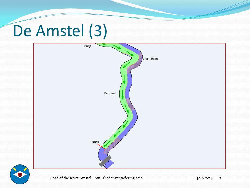 Bruggen(oproei/terugroei) 30-6-2014 18 Utrechtsebrug Berlagebrug Torontobrug Rozenoordbruggen Nieuwe Amstelbrug Head of the River Amstel – Stuurliedenvergadering 2010