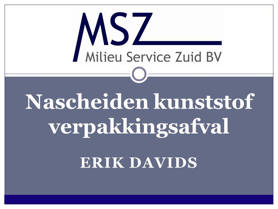 ERIK DAVIDS Nascheiden kunststof verpakkingsafval
