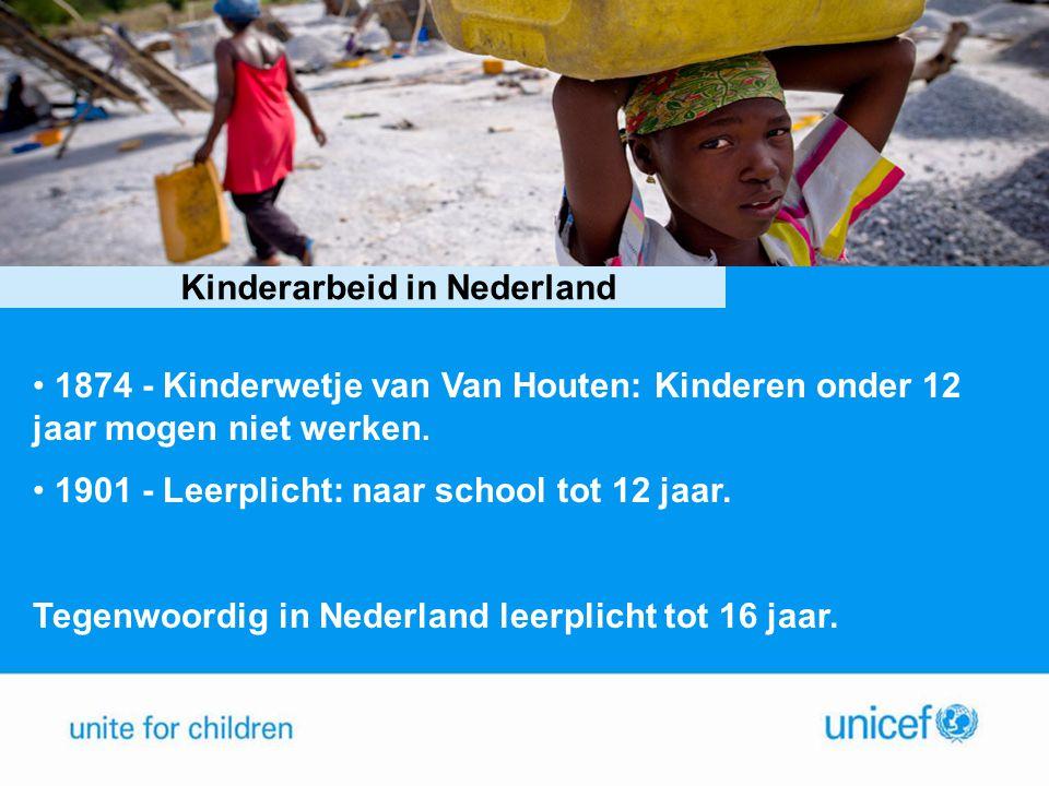 Stelling 4 Kinderarbeid in Nederland • 1874 - Kinderwetje van Van Houten: Kinderen onder 12 jaar mogen niet werken. • 1901 - Leerplicht: naar school t