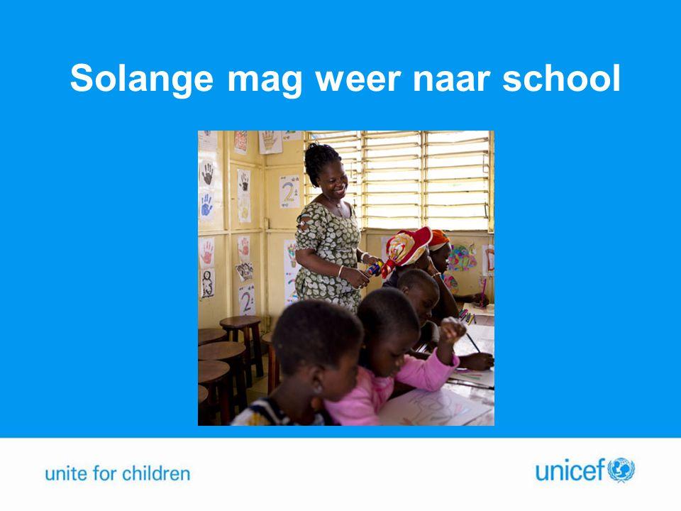 Solange mag weer naar school