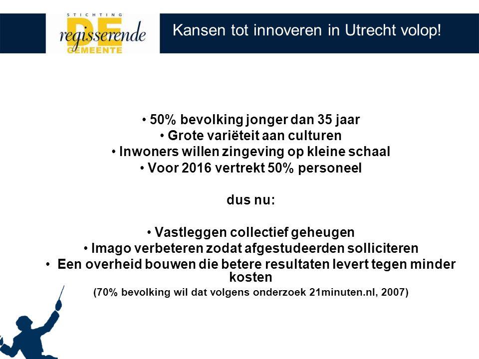 Kansen tot innoveren in Utrecht volop.
