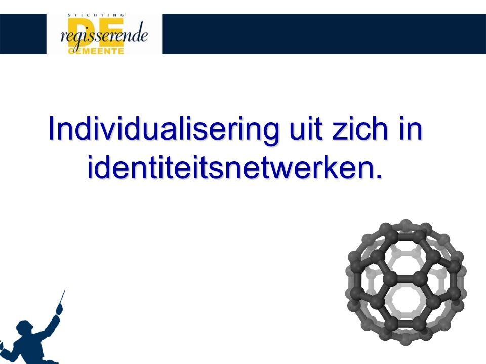 Individualisering uit zich in identiteitsnetwerken.