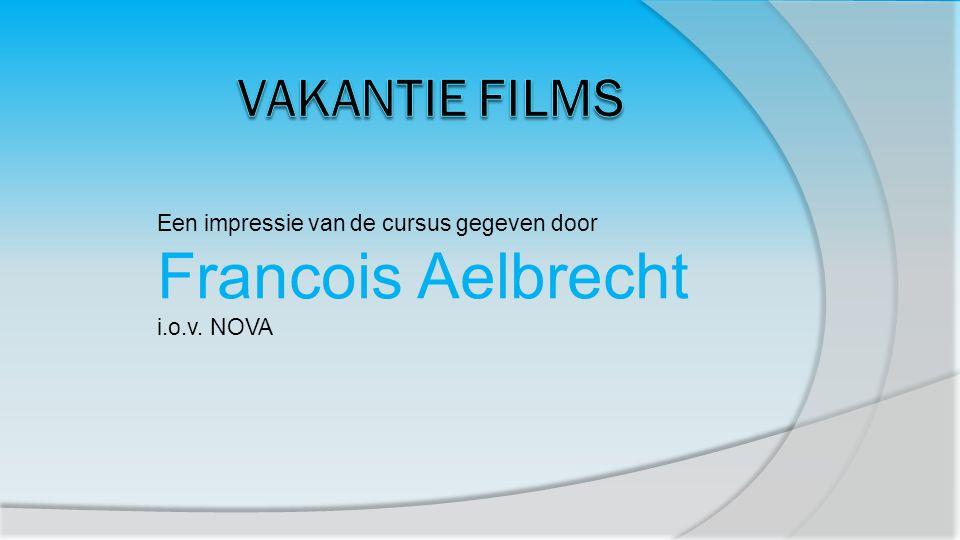 Een impressie van de cursus gegeven door Francois Aelbrecht i.o.v. NOVA