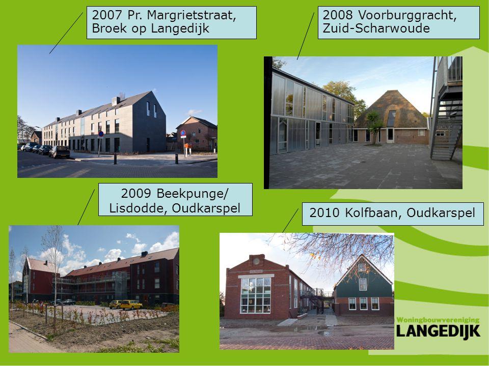 2007 Pr. Margrietstraat, Broek op Langedijk 2008 Voorburggracht, Zuid-Scharwoude 2009 Beekpunge/ Lisdodde, Oudkarspel 2010 Kolfbaan, Oudkarspel