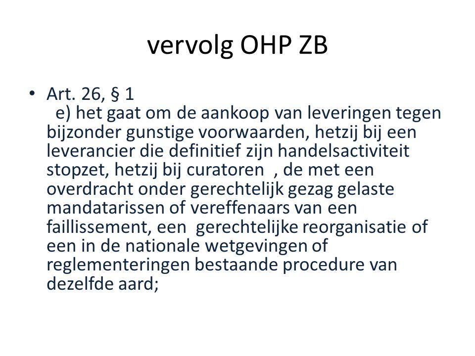 vervolg OHP ZB • Art.