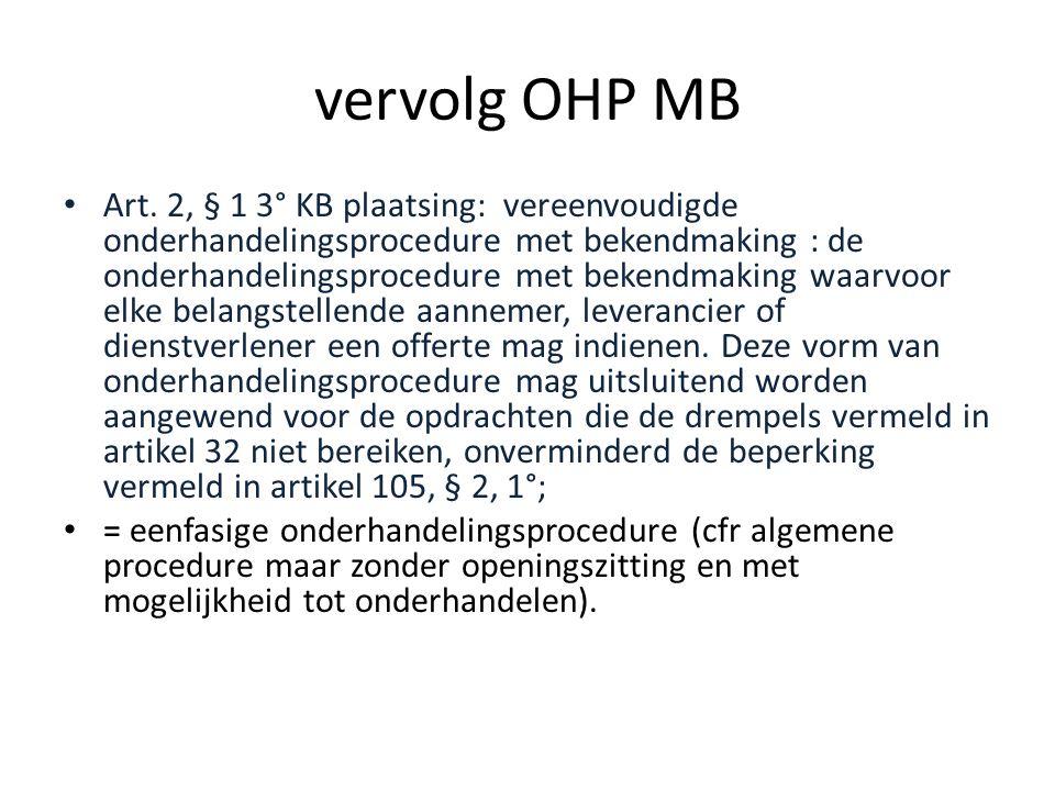 vervolg OHP MB • Art.