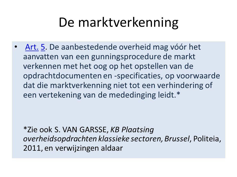 De marktverkenning • Art.5.