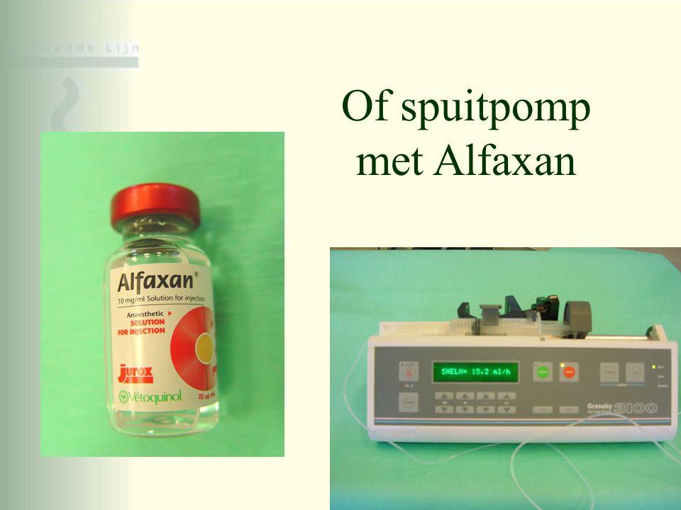 Of spuitpomp met Alfaxan