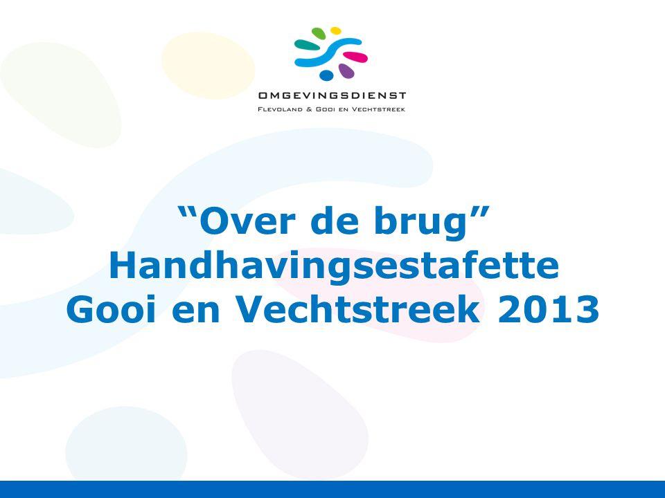 Over de brug Handhavingsestafette Gooi en Vechtstreek 2013