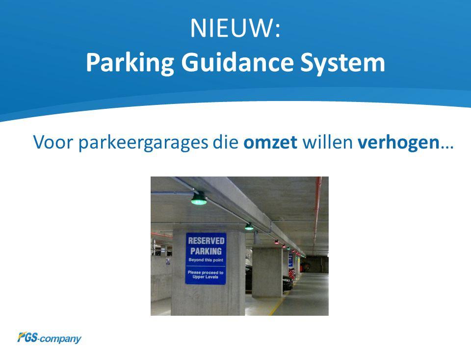 NIEUW: Parking Guidance System Voor parkeergarages die milieuvriendelijker willen zijn…