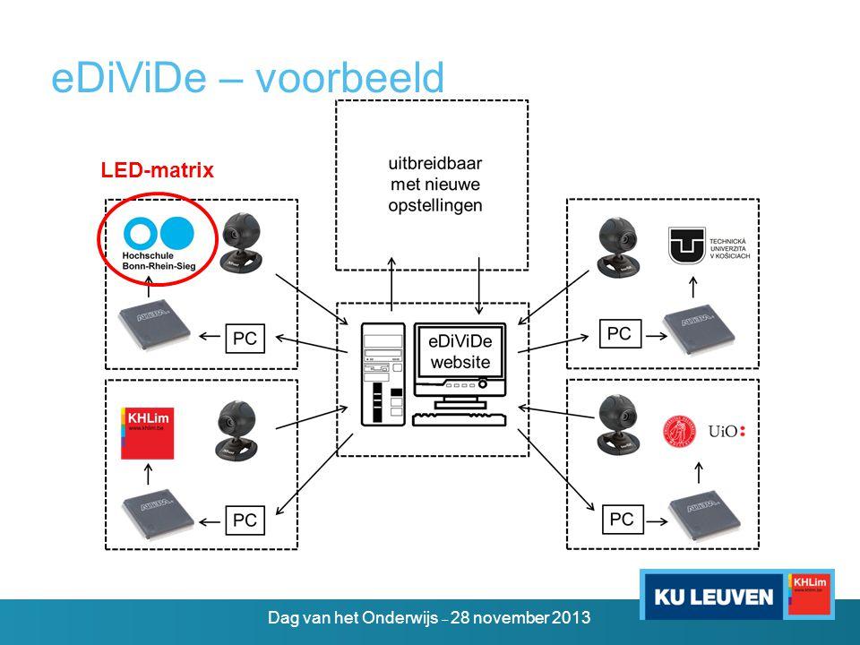 eDiViDe – voorbeeld LED-matrix Dag van het Onderwijs – 28 november 2013