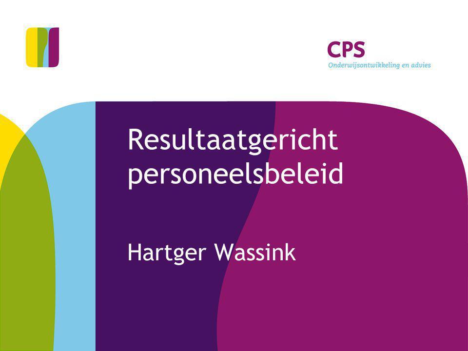 Resultaatgericht personeelsbeleid Hartger Wassink