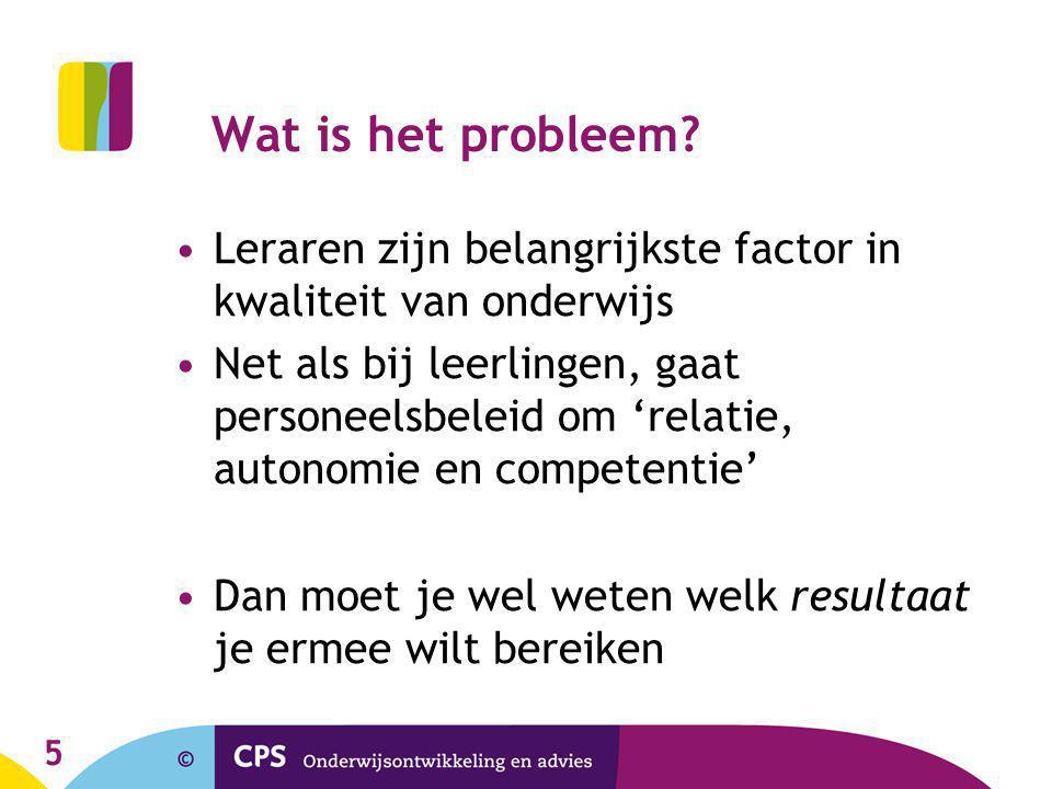 5 Wat is het probleem.