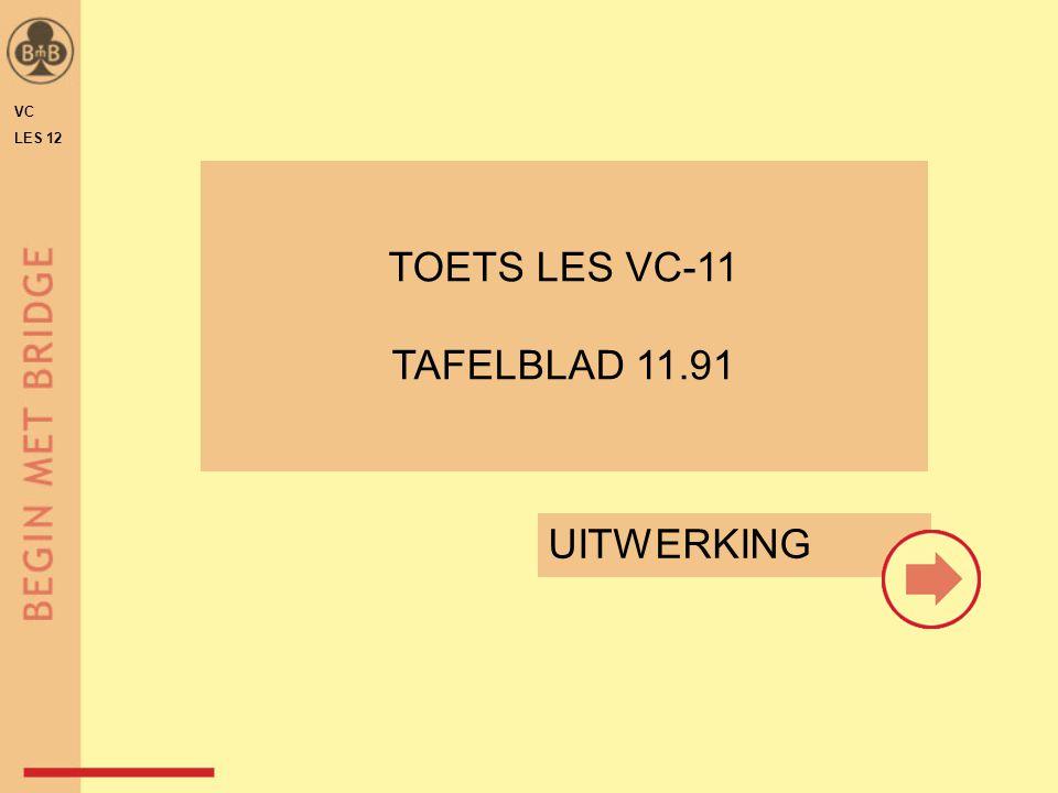 HIER NOG DE UITWERKING VAN DE TOETS (als deze gereed is) INVOEGEN DE OEFENOPGAVEN VC LES 12