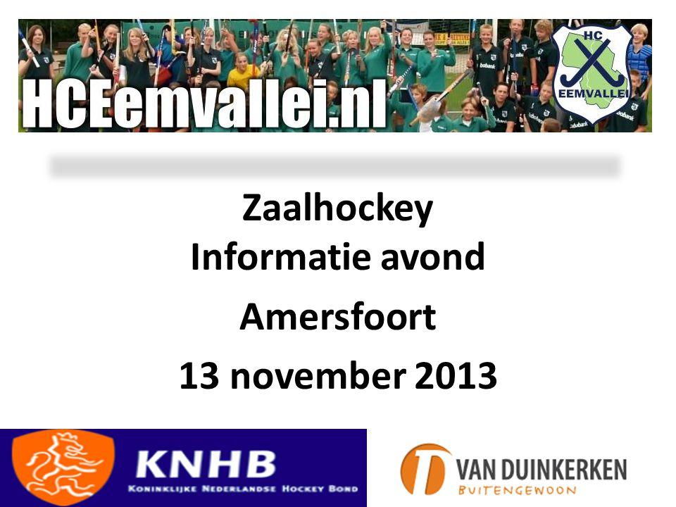 Zaalhockey Informatie avond Amersfoort 13 november 2013