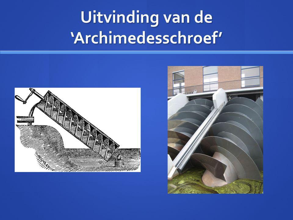 Uitvinding van de 'Archimedesschroef'