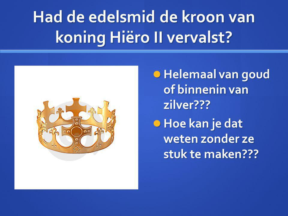 Had de edelsmid de kroon van koning Hiëro II vervalst.