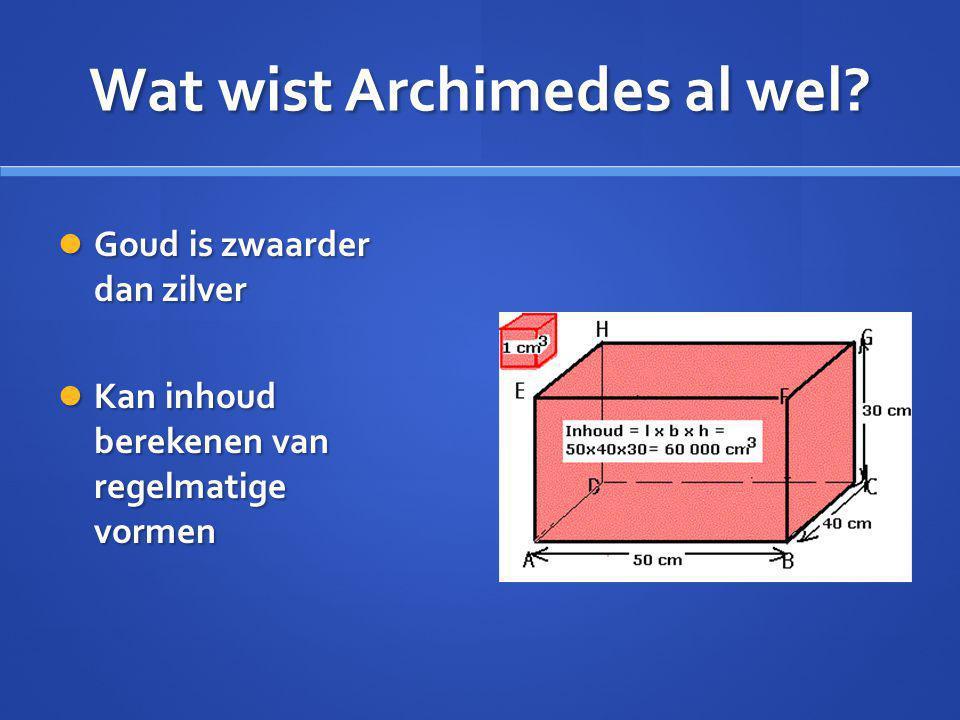 Wat wist Archimedes al wel.